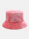 Women & Men Double-sided Tie-dye Corduroy And Cotton Warm Soft Outdoor Casual All-match Bucket Hat - #09