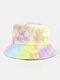 Men & Women Corduroy Tie-dye Double-sided All-match Outdoor Bucket Hat - #03