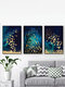 1/3Pcs Simple Cartoon Print Canvas Unframed Wall Art Picture Home Decorate Living Room - #08