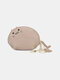 Women Genuine Leather Cute Animal Cat Pattern Mini Hanging Coin Bag Keychain Wallet Storage Bag - Gray