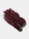 Cola de caballo de 10 colores Cabello Extensiones Fibra de alta temperatura Soft Recta Peluca - #08