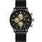 Relógio de pulso de aço inoxidável impermeável Relógio do relógio de pulso dos homens do cronógrafo do estilo do negócio