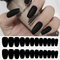 24Pcs/Box Full Cover Frosted Ballet Nail Tips Almond Press On Nails Wearable Fake Nail with Glue - 1