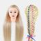 Multicolor Hairdressing Training Head Model Braided Disc Hair Salon Hairdresser Practice Mannequin - 21