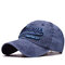 Men Women Cotton Washed Sunshade Always Embroidery Baseball Cap Hip-hop Adjustable Hat Snapback Cap - Navy