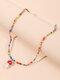 Bohemian Beads Mushroom Colgante Collar Collar de cuentas de temperamento - Vistoso