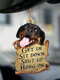 1 PC Animal Lover Two Sided Car Rearview Mirror Hanging Ornament Auto Accessory Puppy Lover Gifts Funny Backpack Keychain Hanging Decor Available for Many Dog Breeds - #10