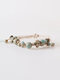 Ceramic Alloy Brown Vintage Jewelry Ceramic Bead Weaving Bracelet - #01