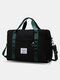 Foldable Travel Duffel Bag Luggage Sports Gym Water Resistant Oxford - Black
