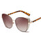 Women Retro Cat Eye Anti-UV Metal Full-frame Sunglasses Vogue Personality Sunglasses
