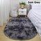 Langes buntes Tie-Dye-Farbverlaufsteppich Wohnzimmer Schlafzimmer Nachttisch Decke Couchtisch Kissen Voller Teppich Bodenmatte - Dunkelgrau