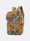 Men Outdoor Canvas Large Capacity 15.6 Inch Laptop Bag Travel Backpack - Coffee