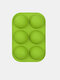 1Pc DIY Silicone Cake Mould 6 Hole Half Sphere Shape Handmade Soap Mold Silicone Chocolate Mold - Green