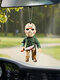 1 PC Halloween Doll Pendant Creative Horror Toys Zombies Skeleton Dwarf Decoration Car Rear View Mirror Hanging Funny Festival Gifts - #03