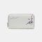 Women PU Leather Ethnic Multi-card Slots Photo Card Phone Bag Money Clip Wallet Coin Purse - Grey