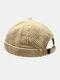 Men & Women Cotton Street Trend Fashion Casual British Style Brimless Landlord Hat Beanie Skull Hat - Khaki