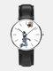 Mens Cartoon Astronaut&Earth Print Quartz Watch - White