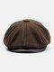 Uomo Plus Cappello ottagonale in cashmere tinta unita Cappello da esterno per il tempo libero Wild Forward Cappello piatto - caffè