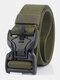 125CM Men Nylon Belt Zinc Alloy Magnetic Buckle Tactical Casual Belt - Army Green