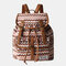 Women Ethnic Printed Floral Travel Backpack - #01