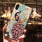 Women Palace Peacock Relief Painting TPU Phone Case Back Cover Anti-fall For iPhone