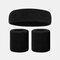 15 colori Soft Set di fascia per lo sport con fascia da polso per asciugamano Set di fascia per la fascia assorbente da sudore per sport sportivo - 18
