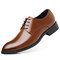 Large Size Men Classic Pointed Toe Business Formal Dress Shoes - Brown