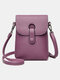 Casual Clear Fabric 6.8 Inch Phone Bag Exquisite Hardware Waterproof Wearable Crossbody Bag - Purple