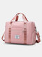 Foldable Travel Duffel Bag Luggage Sports Gym Water Resistant Oxford - Pink