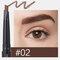 4 Farben Doppelköpfiger Augenbrauenstift Automatische Rotary Refill Wasserdichte, lichtechte Augenkosmetik - #02