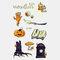 Halloween Luminous Tattoo Children Cartoon Stickers Body Art Waterproof Fake Temporary Tattoo Transfer Paper - 05