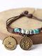 Vintage Constellation Circle-shape Ceramic Alloy Bracelets - #05
