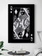 Poker Q Pattern Canvas Painting Unframed Wall Art Canvas Living Room Home Decor - #08