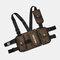 Men Oxford Vest Casual Tactical Multi-pocket Chest Bag Crossbody Bag - Brown