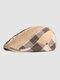पुरुषों प्लेड पैटर्न पैचवर्क रंग आकस्मिक फैशन Sunvisor फ्लैट टोपी फॉरवर्ड टोपी बेरेट टोपी - हाकी