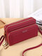 All-Match Faux Fur Multi-Pockets Crossbody Bag Large Capacity Phone Bag - Wine Red
