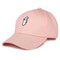 Womens Mens Solid Color Cotton Baseball Cap Sunshade Outdoor Sports Hat With Gesture - Pink