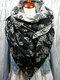 Sciarpa stampata donna scialle multiuso Collo Avvolgere sciarpa calda - Nero