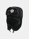 男性と女性の防寒冬用トラッパーハットマスクトラッパーハット付きの厚い冬用ハット耳栓 - #02