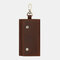Men Genuine Leather Keychain Wallet Coin Purse - Brown