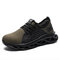 Men Steel Toe Cap Mesh Fabric Breathable Non Slip Sport Work Safety Shoes - Green