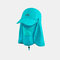 Sun Protection Foldable Cover Face Visor Outdoor Fishing Hat Summer Quick-drying Cap Breathable Hat Baseball Cap - Blue