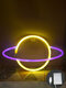 LED Planet Pattern Neon Light Dual-use Battery USB Charging Home Room Decor Night Light For Club Bedroom Living Room Party Garden - #06