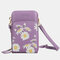 Women Daisy Clutch Bag Card Bag Phone Bag Crossbody Bag - Purple