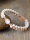 Vintage Bohemian Square Drop Shape Agate Rhodochrosite White Turquoise Hand Woven Double-layer Beads Bracelets - #03