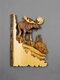 1 PC Animal Sculpture Artisanat Tenture murale Sculpture 3D Raton Laveur Ours Cerf Loup Peint À La Main Décorations pour La Maison Salon - #01