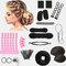 14Pcs DIY Hair Styling Accessories Kit Pads Hairpins Roller Braid Twist Sponge Modelling Hairdress Braid Tools Kit Set - 1