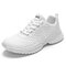 Women's Casual Solid Color Mesh Breathable Wearable Sneakers - White