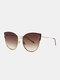 Unisex Metal Cat-eye Frame Hollow Bridge Colorful Lens Anti-UV Sunglasses - #04