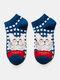 Chaussettes respirantes en coton pour femmes - Bouche de chaussettes bleu marin